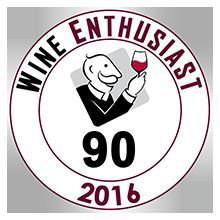 Wine Enthusiast 90 pontos