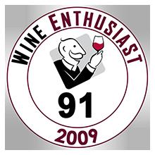 Wine Enthusiast 91 pontos