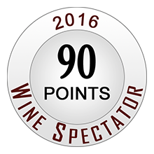 Wine Spectaror 90 pontos